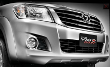 New 2016 2017 Toyota Hilux Vigo comes with new bold grill and bumper